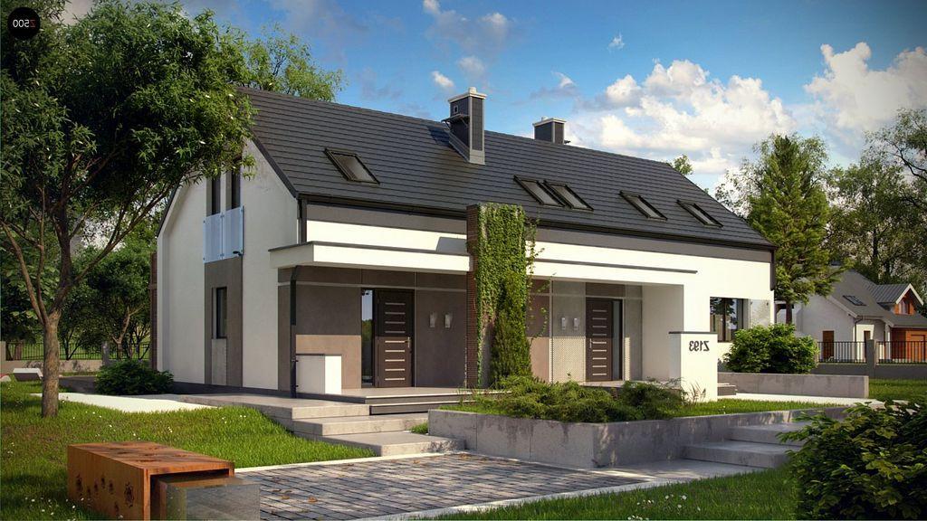 Z193 - Projekty domów mieszkalnych - odbicie lustrzane ...